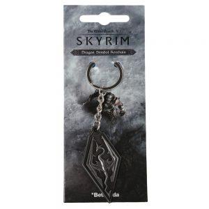 the-elder-scrolls-5-V-skyrim-dragon-symbol-keychain-schlüsselanhänger-bethesda