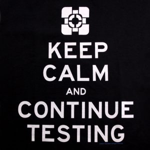portal-keep-calm-and-continue-testing-companion-cube-valve-2