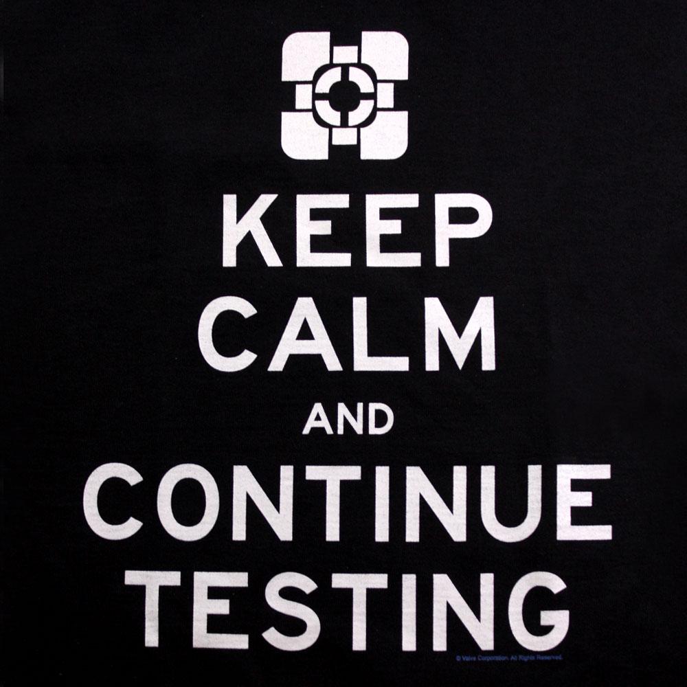 portal-keep-calm-and-continue-testing-companion-cube-valve-2