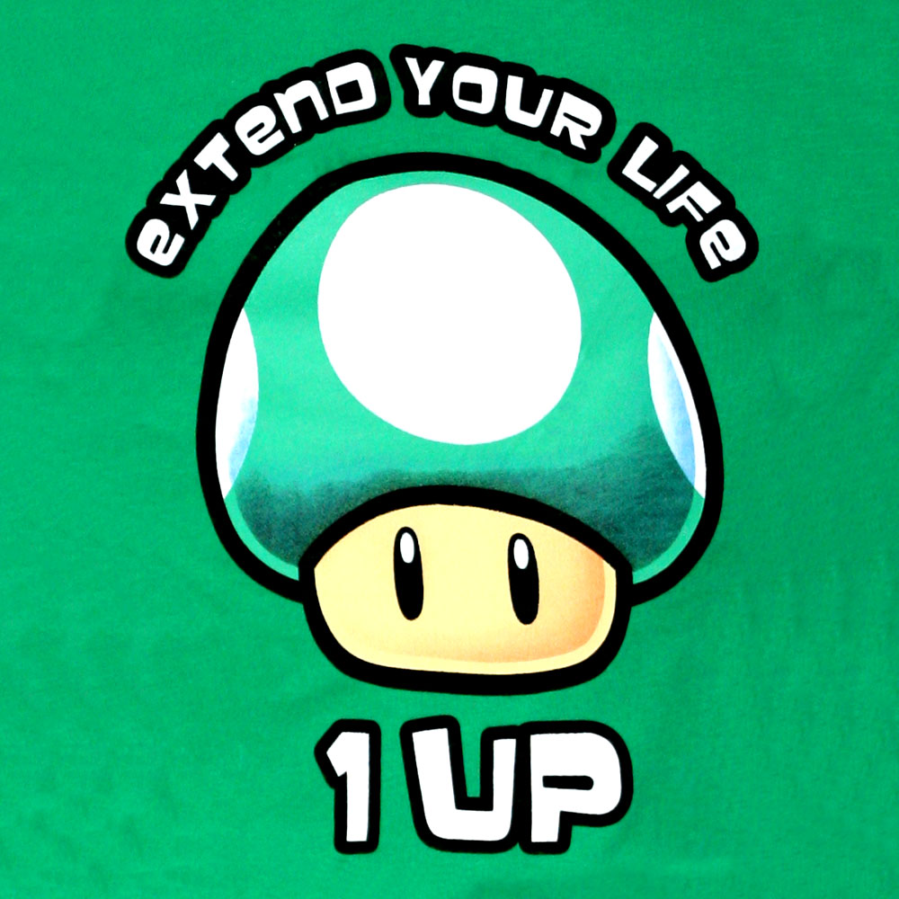 super-mario-grüner-pilz-extend-your-life-1-up-t-shirt-girlie-2