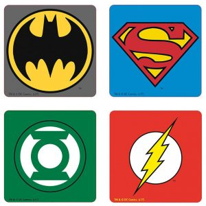 dc-comics-set-4-coasters-emblem-untersetzer-green-lantern-batman-superman-flash-2