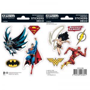 dc-comics-stickers-16x11cm-2-planches-justice-league-5-stück-batman-superman-dark-knight-man-of-steel-wonderwoman-flash-2