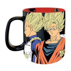 dragon-ball-mug-tasse-premium-460-ml-saiyans-vs-cyborgs-box-cell-c17-c16-c18-vegata-son goku-dr gero-trunks-gohan