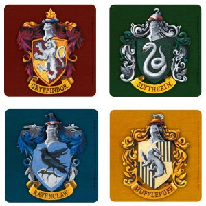 harry-potter-set-4-coasters-houses-gryffindor-ravenclaw-slytherin-hufflepuff-hogwarts-häsuer-untersetzer-2