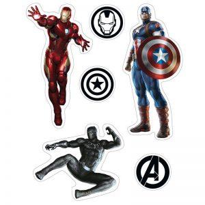 marvel-stickers-16x11cm-2-sheets-avengers-iron-man-hulk-thor-captain-america-black-panther-logos-icons