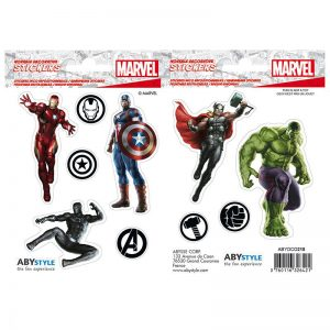 marvel-stickers-16x11cm-2-sheets-avengers-iron-man-hulk-thor-captain-america-black-panther-logos-icons-3
