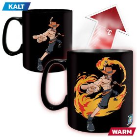 One Piece – Ruffy & Ace – King Size – Farbwechsel Tasse – 2