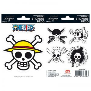 one-piece-stickers-16x11cm-2-sheets-luffy-ruffy-strohhut-sticker-jolly-roger-Brook-Lysop-Zorro-Zoro-Sanji-Totenköpfe-3