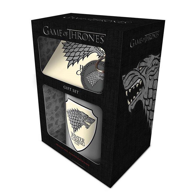 game-of-thrones-pck-mug-keychain-stark-tasse-schlüsselanhänger-pvc-untersetzer-coaster-direwolf