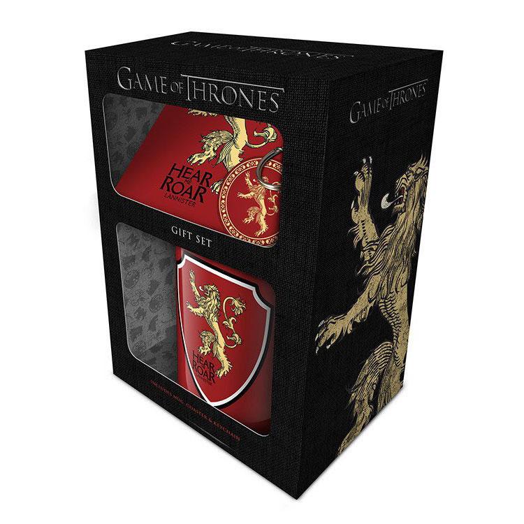 game-of-thrones-pck-mug-keychain-lannister-tasse-schlüsselanhänger-pvc-untersetzer-coaster-löwe-hear-me-roar