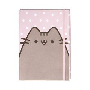 pusheen-notizbuch-polka-dots-katze-cat-gund-flauschig-journal-80-seiten-liniert-2