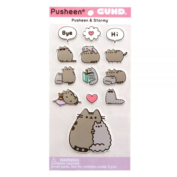 pusheen-sticker-stormy-cat-katze-kawaii-pastellfarben-puffy-stickers-stickersheet-kätzchen