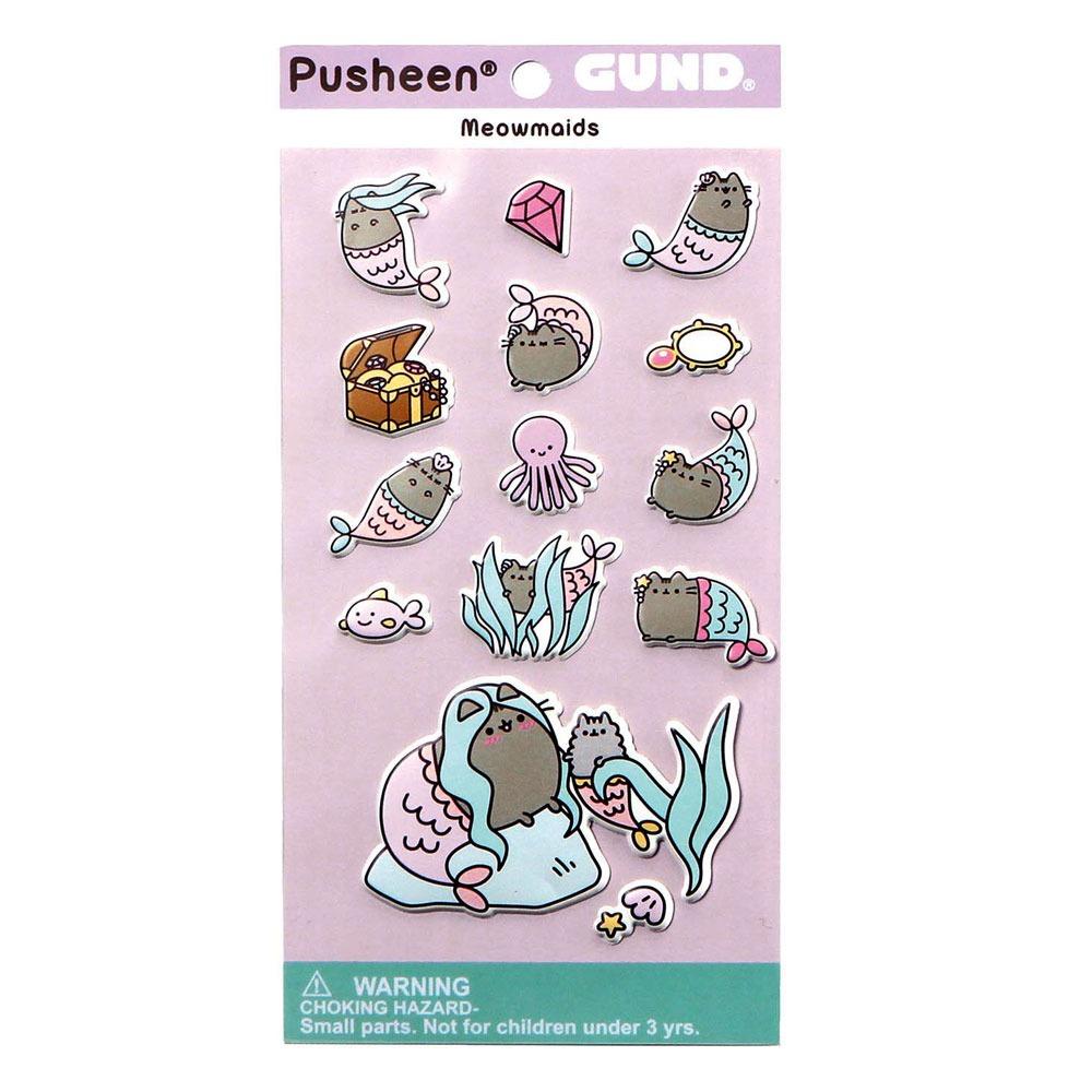 pusheen-sticker-mermaid-kitty-cat-katze-kawaii-stickers-stickersheet-kätzchen-meowmaid-truhe-chest