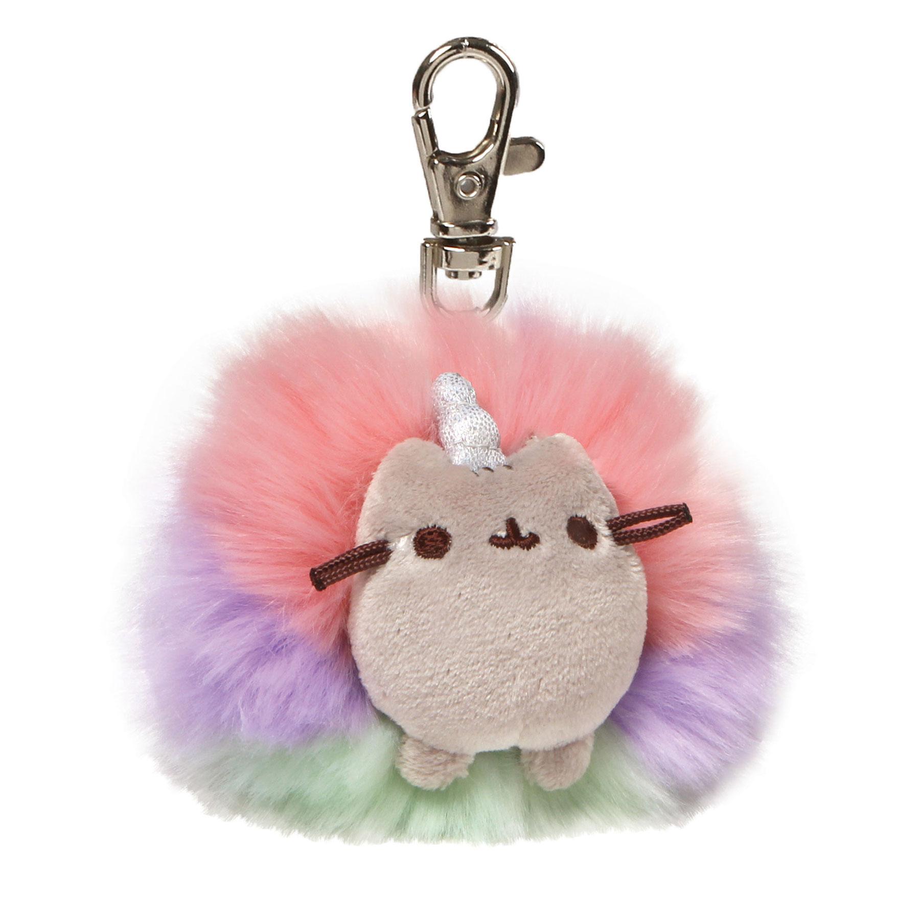 pusheen-poms-schlüsselanhänger-backpack-hanger-plüsch-plush-flauschig-anhänger-psuheenicorn-regenbogen-bunt