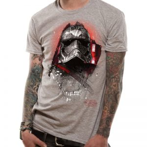 star-wars-episode-8-the-last-jedi-captain-phasma-art-t-shirt-grau-grey-unisex