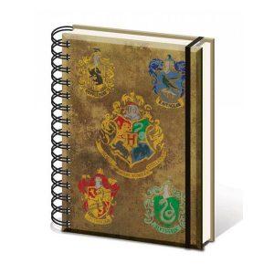 harry-potter-hp-die-häuser-hogwarts-ravenclaw-hufflepuff-slytherin-gryffindor-pyramid-ringbuch-notizbuch-notebook-100-seiten