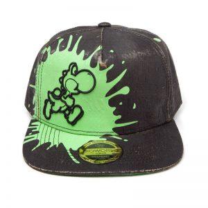 super-mario-yoshi-farbklecks-grün-schwarz-cap-baseball-hip-hop-difuzed-nintendo