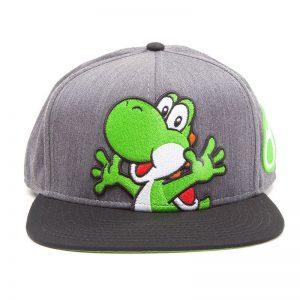 super-mario-yoshi-yoshi-ei-grün-schwarz-cap-baseball-hip-hop-difuzed-nintendo-grau-1