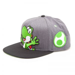 super-mario-yoshi-yoshi-ei-grün-schwarz-cap-baseball-hip-hop-difuzed-nintendo-grau-2